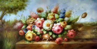 «Букет пионов» картина 60х120 б066
