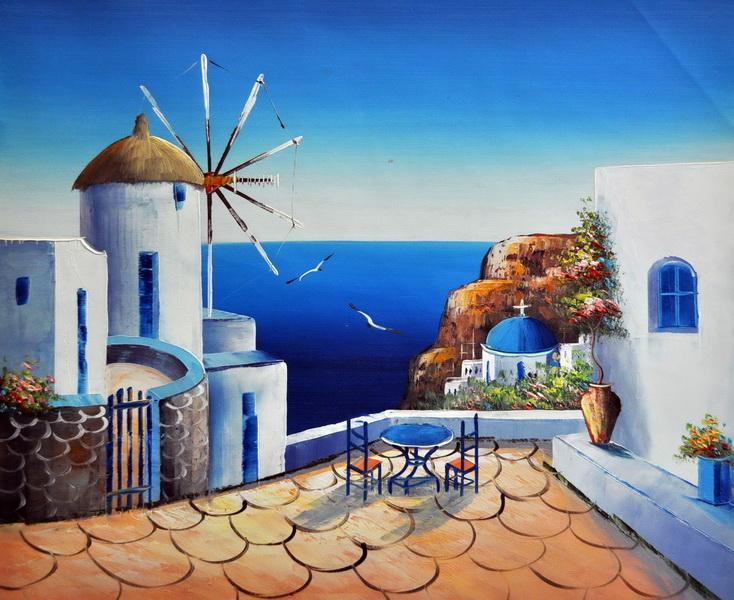 «Санторини» картина 30х40 3с010