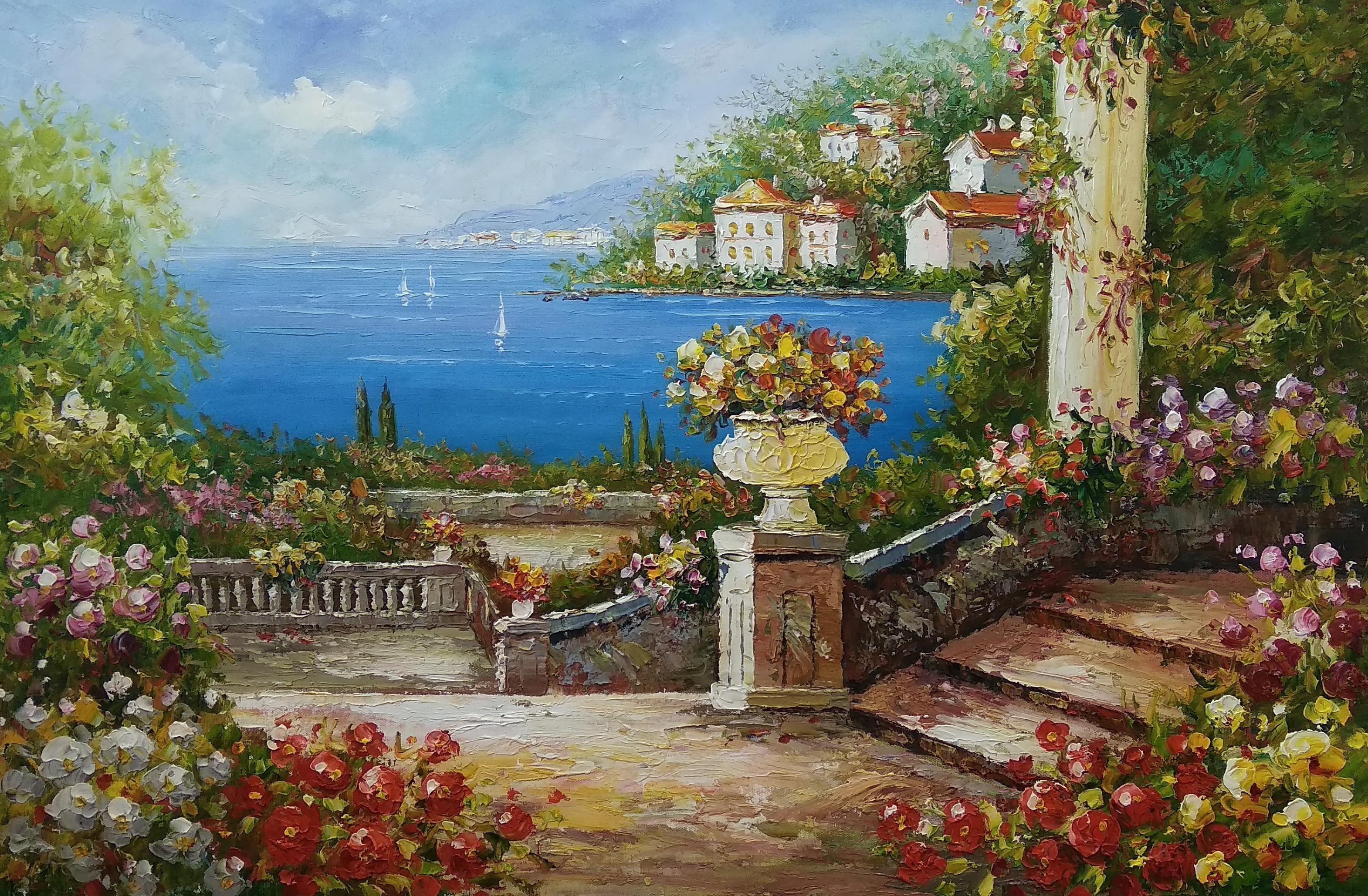 «Средиземноморье» картина 60х90 9с020